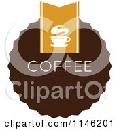 Clipart Of A Brown Coffee Logo 10 Royalty Free Vector Illustration by elena