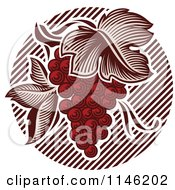 Clipart Of A Bunch Of Red Grapes 2 Royalty Free Vector Illustration