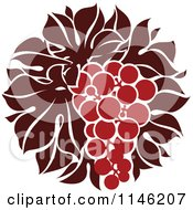 Clipart Of A Bunch Of Red Grapes 3 Royalty Free Vector Illustration by elena