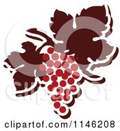 Clipart Of A Bunch Of Red Grapes 4 Royalty Free Vector Illustration by elena