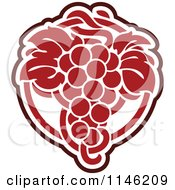 Clipart Of A Bunch Of Red Grapes 5 Royalty Free Vector Illustration by elena