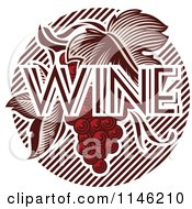 Clipart Of Red Grapes And The Word Wine 1 Royalty Free Vector Illustration by elena