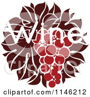 Clipart Of Red Grapes And The Word Wine 2 Royalty Free Vector Illustration by elena