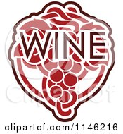 Clipart Of Red Grapes And The Word Wine 4 Royalty Free Vector Illustration by elena