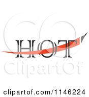 Clipart Of A Hot Chili Pepper Text Design 2 Royalty Free Vector Illustration