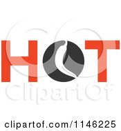 Clipart Of A Hot Chili Pepper Text Design 3 Royalty Free Vector Illustration