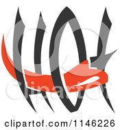 Clipart Of A Hot Chili Pepper Text Design 4 Royalty Free Vector Illustration