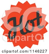 Clipart Of A Spicy Hot Burst Design Royalty Free Vector Illustration