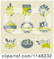 Clipart Of Organic And Natural Icons Royalty Free Vector Illustration
