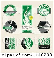 Clipart Of Organic And Natural Icons 2 Royalty Free Vector Illustration