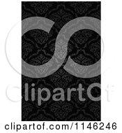 Clipart Of A Dark Damask Pattern Royalty Free Vector Illustration