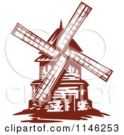 Clipart Of A Windmill Royalty Free Vector Illustration by Vector Tradition SM