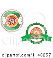 Clipart Of Pizzeria Pizza Pie Logos 1 Royalty Free Vector Illustration