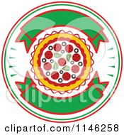Clipart Of A Pizzeria Pizza Pie Logo 1 Royalty Free Vector Illustration by Vector Tradition SM