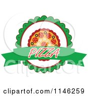 Clipart Of A Pizzeria Pizza Pie Logo 2 Royalty Free Vector Illustration
