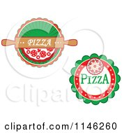 Clipart Of Pizzeria Pizza Pie Logos 2 Royalty Free Vector Illustration