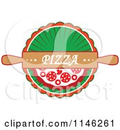 Clipart Of A Pizzeria Pizza Pie Logo 3 Royalty Free Vector Illustration