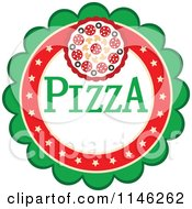 Clipart Of A Pizzeria Pizza Pie Logo 4 Royalty Free Vector Illustration