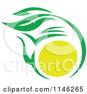 Green Tea Cup With Lemon And Leaves 2