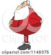 Cartoon Of Santa Holding His Rear And Needing To Use The Restroom Royalty Free Vector Clipart