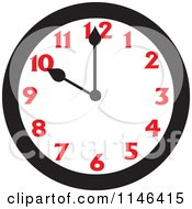 Cartoon Of A Wall Clock Showing 10 Royalty Free Vector Clipart