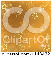 Clipart Of A Gold Christmas Star And Bokeh Background Royalty Free Vector Illustration