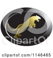 Clipart Of A Leaping Puma Or Tiger Icon 3 Royalty Free Vector Illustration by Lal Perera