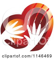 Clipart Of A Violent Hands Scratching A Heart Royalty Free Vector Illustration