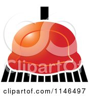 Clipart Of A Red Sweeping Broom Royalty Free Vector Illustration by Lal Perera