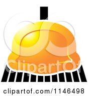 Clipart Of A Golden Sweeping Broom Royalty Free Vector Illustration by Lal Perera