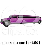 Clipart Of A Purple Hummer Stretch Limo Royalty Free Vector Illustration by Lal Perera
