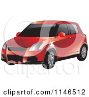 Clipart Of A Red Car Royalty Free Vector Illustration