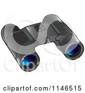 Pair Of Black Binoculars