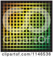 Clipart Of A Gradient And Black Grid Background Royalty Free Vector Illustration