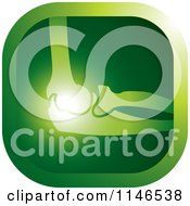 Clipart Of A Green Elbow Joint Icon Royalty Free Vector Illustration by Lal Perera