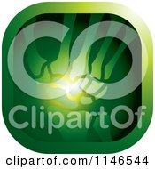 Clipart Of A Green Wrist Xray Icon Royalty Free Vector Illustration