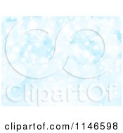 Clipart Of A Blue Snowflake And Bokeh Christmas Background Royalty Free Vector Illustration