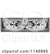 Clipart Of A Retro Vintage Black And White Vintage Border Royalty Free Vector Illustration
