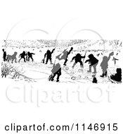 Silhouette Border Of Children Curling