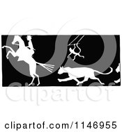 Retro Vintage Black And White Silhouetted Circus Animals