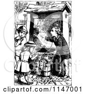 Clipart Of A Retro Vintage Black And White Man And Children Rescuing A Cat From A Well Royalty Free Vector Illustration by Prawny Vintage