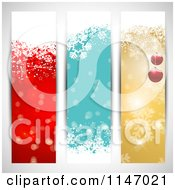 Clipart Of Colorful Vertical Christmas Website Banners Royalty Free Vector Illustration