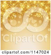 Clipart Of A Merry Christmas Greeting With Gold Sparkles Royalty Free Vector Illustration by KJ Pargeter