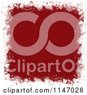 Clipart Of A Grungy White Snowflake Border With Red Scratches In The Center Royalty Free Vector Illustration