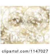 Clipart Of A Golden Christmas Bokeh Light Background Royalty Free CGI Illustration