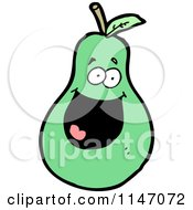 Cartoon Of A Pear Mascot Royalty Free Vector Clipart by lineartestpilot