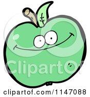 Cartoon Of A Green Apple Mascot Royalty Free Vector Clipart by lineartestpilot