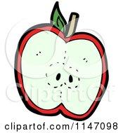 Halved Red Apple
