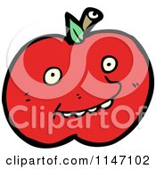 Cartoon Of A Red Apple Mascot Royalty Free Vector Clipart