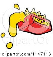 Cartoon Of Cheesy Nachos Royalty Free Vector Clipart